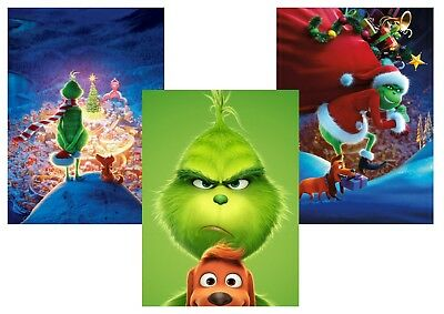 The GRINCH   A5 A4 A3 Textless Movie Posters