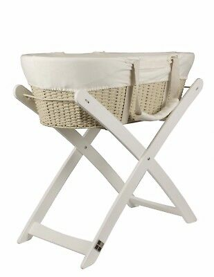 Gorgeous Baby Bassinet (Moses Basket) with Stand