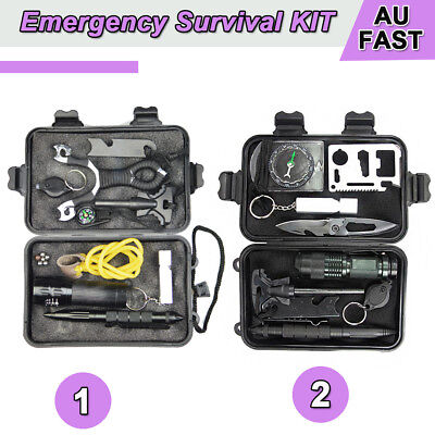 SOS Emergency Survival Equipment Kit Outdoor Sports Tactical Hiking Camping Tool