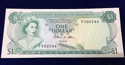 The Central Bank Of The Bahamas 1974 $1 Bill - Colorful- Excellent Condition