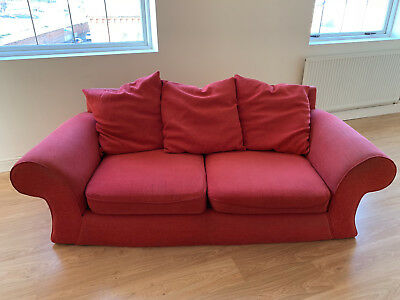 Red Two Seater Sofa Used But Not Abused 30 00 Picclick Uk