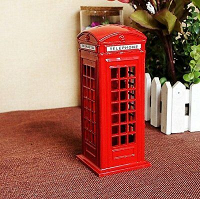 BeeSpring Attractive Metal Alloy Money Coin Spare Change London Street Red Telep