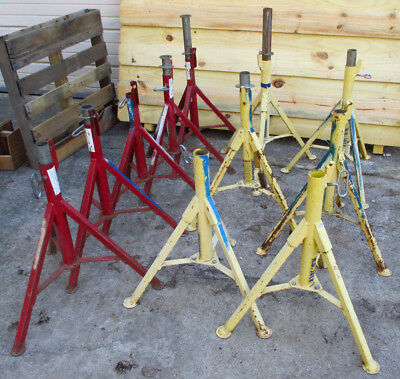 LOT of 11 Sumner / B&B V-Head Pipe Type Stands Base Assemblies ST-801 & B&B