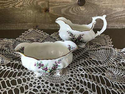 Hammersley Bone China Creamer and Sugar Dish Vintage