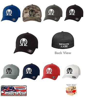 89ba7357b69 MOLON LABE GREEK 2ND AMENDMENT Flex Fit HAT CURVED FLAT BILL  SHIP IN THE  BOX