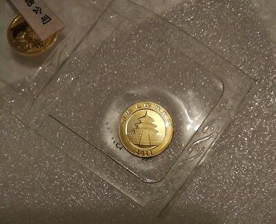 2011 Panda 1/20 oz Gold Coin