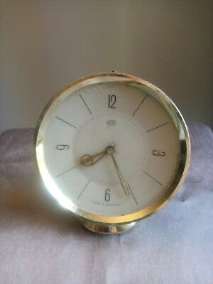 VINTAGE German UMF Alarm Mechanical Clock