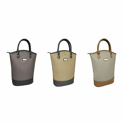 NEW SACHI TWO BOTTLE WINE TOTE BAG Handbag Insulated Cooler Carry Handle