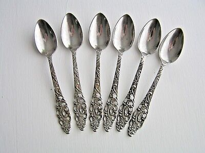 Vintage Dutch Demitasse Spoons Set of 6 Floral Ajour Design G SOLA Z S/STEEL