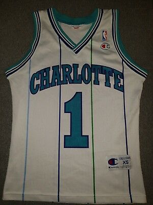 best sneakers 63bc0 01f44 CHARLOTTE HORNETS NBA Trikot usa jersey Muggsy Bogues original champion xs  rar