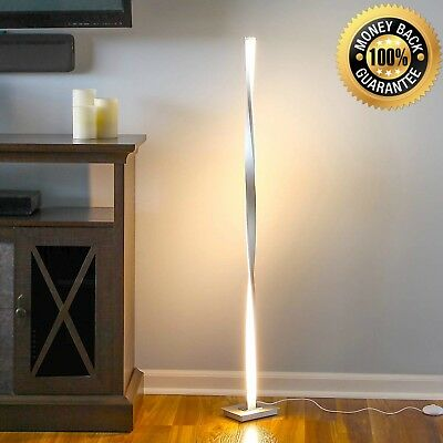 Modern LED Floor Lamp Unique Black Minimalist Twist Lighting Contemporary Light