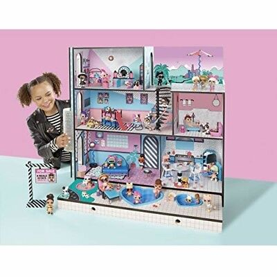 LOL Surprise Doll House 85+ Surprises Wooden Moving Truck Furniture Stair Case
