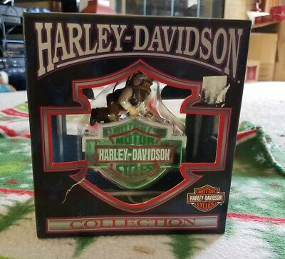 1999 Harley Davidson North Pole Collection fixing the logo Christmas Ornament