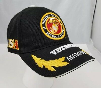 TRUE VINTAGE USMC US Marine Corps Retired Snap Back Baseball