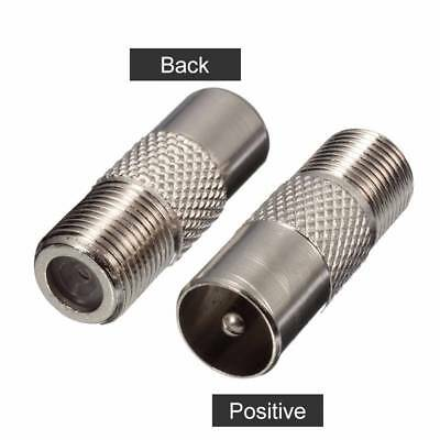 5x F Type Female Screw Connector Socket to RF Coax Aerial Male Adapter Adaptor