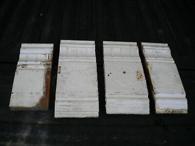 4 Antique Victorian Style Door Plinth Block - C. 1905 Fir Architectural Salvage