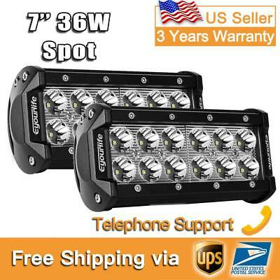 "2X 7Inch 36W Cree Led Work Light Bar SPOT Beam Offroad Jeep Truck ATV 6""5"""