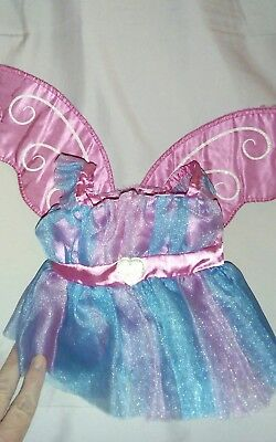build a bear fairy princess dress pink and blue with wings tutu