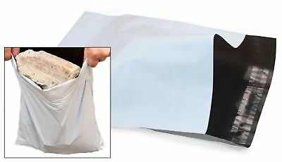 "- 50pc WHITE Mail Bags Packaging Postal Polythene Plastic 9""x12.5""(23cmx32cm)"