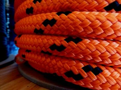 """5/8"""" x 100 ft. Double Braid-Yacht Braid Polyester Rope.Made in USA."""