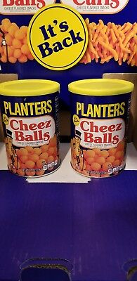 Planters Cheez Balls 2018 Limited Release - 2.75oz canister lot of 2