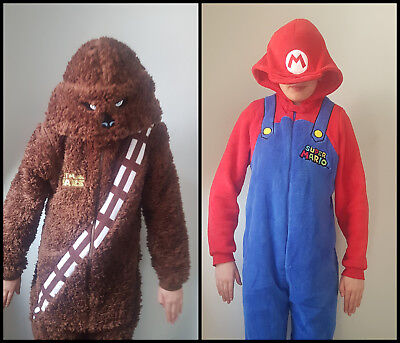 Bnwt Primark  All In One Pyjamas Kids Sleepsuit - Chewbacca Chewie - Mario