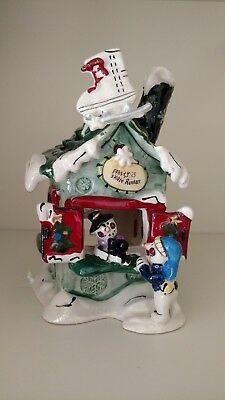 Blue Sky Clayworks Frosty's Skate Rentals Heather Goldminc Tealight Holder House