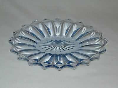 Vintage Antique Blue Depression Glass  Small Oval Candy Serving Tray