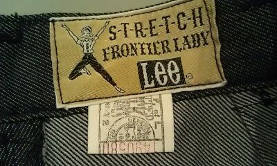 RARE VTG Lee Union Made Frontier Lady Stretch Pants Jeans Girls 22x27 NOS USA
