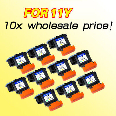 10pcs wholesale for hp11 C4813A yellow printhead for hp500 800 print head