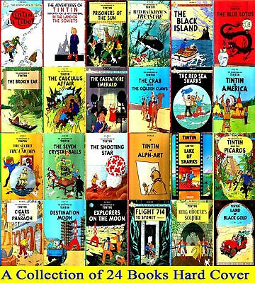 Adventures of Tintin Collection Hardback - 24 Books, BRAND NEW!