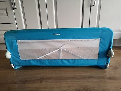 Tomy child's folding bed guard - blue