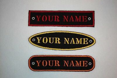 Personalised Embroidered Name Patch STENCIL FONT - Iron or sew on **FREE  POST*