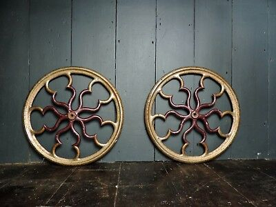 19th Century Antique Victorian Reclaimed Cast Iron Ceiling Rose (2 available)