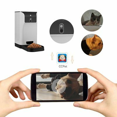 Automatic Pet Feeder Cat/Dog APP Food Dispenser with Camera Voice Recorder Wifi
