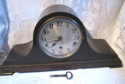 Kienzle Westminster Chime Mantle Clock Key Napoleon Hat Oak Veneer RESTORATION