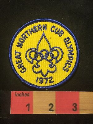Vtg 1972 Cub / Boy Scouts Patch GREAT NORTHERN CUB OLYMPICS C87T