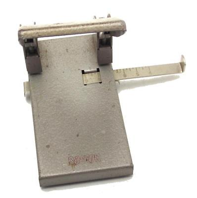 Boston Perforator Model 2 Two Hole Punch With Paper Guide Made in USA Used