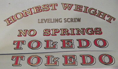 Toledo Candy Scale Decal Set