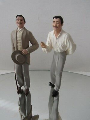 Vintage 1999 & 2000, Hallmark, Rhett Butler Figurine Ornaments, Lot Of 2, VGC !