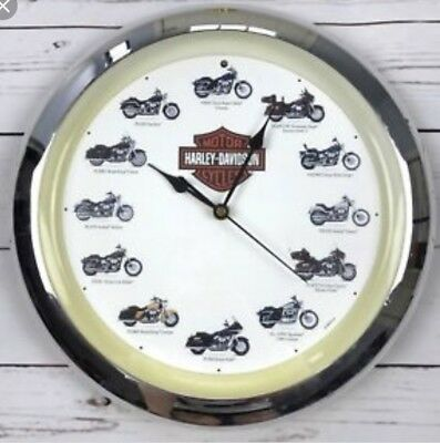 HARLEY DAVIDSON MOTORCYCLES Wall Clock With Engine Sound 2005 Edition