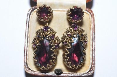 Fabulous Vintage Ornate Filigree Dropper Earrings