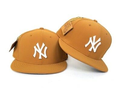 New Era Timberland Tan color New York Yankees 59Fifty Fitted hat Cap