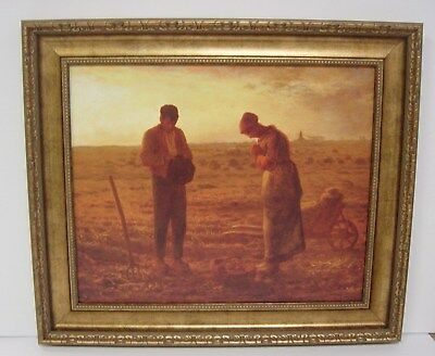 "Jean-Francois Millet ""The Angelus"" Framed Canvas Giclee Print(MD535-01 Gold)"