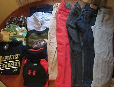 Boys Back to School Clothing Lot 7-8 Levis Crew Cuts Under Armour Old Navy Gymbo