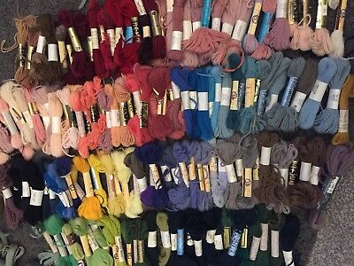Huge Collection Of Vintage Tapestry Wools Threads Skeins And Hanks Ref A8