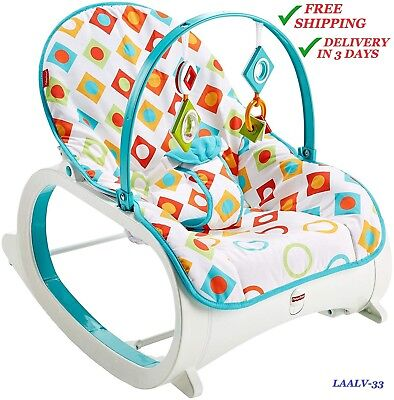 Reclining Rocking chair for babies and toddlers by Fisher-Price, Geo Diamonds :)