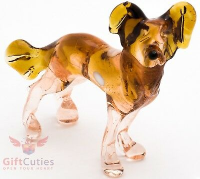 Art Blown Glass Figurine of the Chinese Crested dog