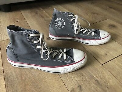 EUC Converse All Star Chuck Taylor High Top Gray Distressed Sneakers Shoes M7 W9
