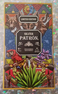 RARE Patron Silver Limited Edition Tin Tequila Liquor Mexican Decorative Art
